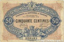 50 Centimes FRANCE régionalisme et divers ROANNE 1915 JP.106.07 B+