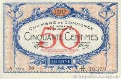 50 Centimes FRANCE régionalisme et divers ROANNE 1917 JP.106.15 TTB+