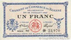 1 Franc FRANCE régionalisme et divers Roanne 1917 JP.106.17 TTB