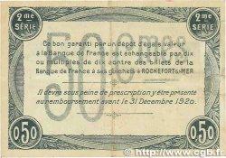 50 Centimes FRANCE régionalisme et divers Rochefort-Sur-Mer 1915 JP.107.07 TTB