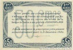 50 Centimes FRANCE régionalisme et divers ROCHEFORT-SUR-MER 1915 JP.107.11 SUP