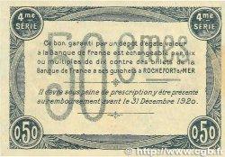 50 Centimes FRANCE régionalisme et divers ROCHEFORT-SUR-MER 1915 JP.107.15 TTB+