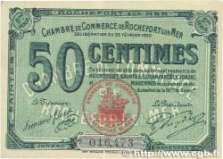 50 Centimes FRANCE regionalism and various Rochefort-Sur-Mer 1920 JP.107.17 VF