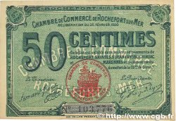 50 Centimes FRANCE régionalisme et divers ROCHEFORT-SUR-MER 1920 JP.107.17 TTB+