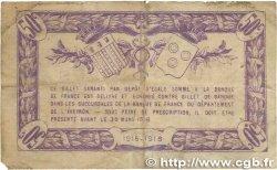 50 Centimes FRANCE régionalisme et divers Rodez et Millau 1915 JP.108.01 B