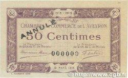 50 Centimes FRANCE régionalisme et divers Rodez et Millau 1915 JP.108.03 TTB+