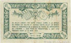 1 Franc FRANCE régionalisme et divers RODEZ et MILLAU 1915 JP.108.05 TB