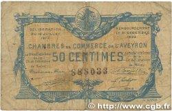 50 Centimes FRANCE régionalisme et divers Rodez et Millau 1917 JP.108.11 B