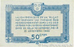 50 Centimes FRANCE régionalisme et divers RODEZ et MILLAU 1917 JP.108.12 SUP+