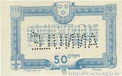 50 Centimes FRANCE régionalisme et divers RODEZ et MILLAU 1921 JP.108.17 TTB