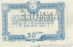 50 Centimes FRANCE régionalisme et divers RODEZ et MILLAU 1921 JP.108.17 SUP