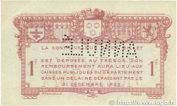 1 Franc FRANCE régionalisme et divers Rodez et Millau 1921 JP.108.19 TTB+
