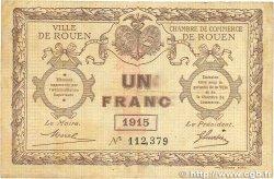 1 Franc FRANCE régionalisme et divers Rouen 1915 JP.110.10 B