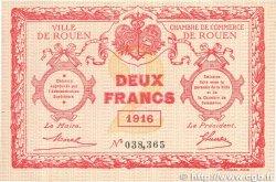 2 Francs FRANCE régionalisme et divers Rouen 1916 JP.110.25 TTB+