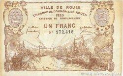1 Franc FRANCE régionalisme et divers ROUEN 1920 JP.110.50 TTB