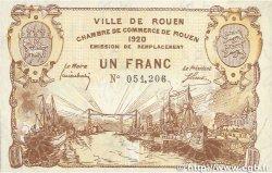 1 Franc FRANCE régionalisme et divers ROUEN 1920 JP.110.50 TTB+