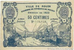 50 Centimes FRANCE régionalisme et divers ROUEN 1922 JP.110.64 pr.TTB