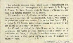 50 Centimes FRANCE régionalisme et divers Saint-Brieuc 1918 JP.111.01 TTB