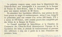 50 Centimes FRANCE régionalisme et divers Saint-Brieuc 1918 JP.111.05 TTB+