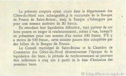1 Franc FRANCE régionalisme et divers SAINT-BRIEUC 1918 JP.111.10 TTB+