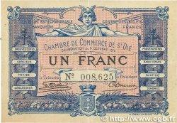 1 Franc FRANCE régionalisme et divers SAINT-DIÉ 1915 JP.112.03 TB