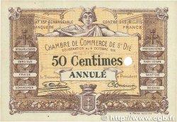 50 Centimes FRANCE régionalisme et divers SAINT-DIÉ 1915 JP.112.01var. SUP