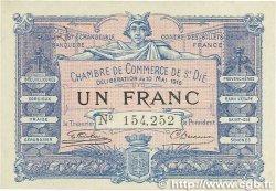 1 Franc FRANCE régionalisme et divers Saint-Die 1916 JP.112.08 TTB+