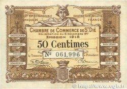 50 Centimes FRANCE régionalisme et divers Saint-Die 1917 JP.112.10 TTB