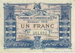 1 Franc FRANCE régionalisme et divers SAINT-DIÉ 1918 JP.112.13 TB