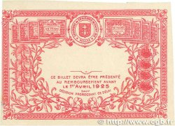 50 Centimes FRANCE régionalisme et divers SAINT-DIÉ 1920 JP.112.17var. SUP