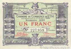 1 Franc FRANCE régionalisme et divers SAINT-DIÉ 1920 JP.112.19 TTB