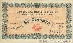 50 Centimes FRANCE régionalisme et divers Saint-Dizier 1916 JP.113.11 TB