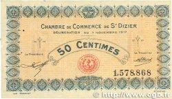 50 Centimes FRANCE régionalisme et divers SAINT-DIZIER 1917 JP.113.15 TTB+