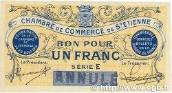 1 Franc FRANCE régionalisme et divers SAINT-ÉTIENNE 1914 JP.114.02 SUP