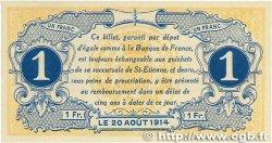1 Franc FRANCE régionalisme et divers Saint-Étienne 1914 JP.114.02 SPL
