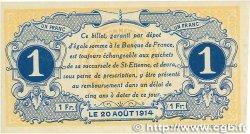 1 Franc FRANCE régionalisme et divers SAINT-ÉTIENNE 1914 JP.114.02 TTB+