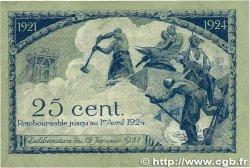 25 Centimes FRANCE régionalisme et divers SAINT-ÉTIENNE 1921 JP.114.05 TTB