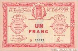 1 Franc FRANCE régionalisme et divers SAINT-OMER 1914 JP.115.04 TTB