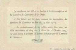 1 Franc FRANCE régionalisme et divers SAINT-OMER 1914 JP.115.10 TTB