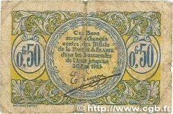 50 Centimes FRANCE régionalisme et divers Saint-Quentin 1918 JP.116.01 B