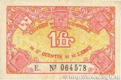 1 Franc FRANCE régionalisme et divers Saint-Quentin 1918 JP.116.03 TTB