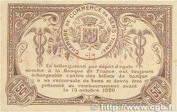 50 Centimes FRANCE régionalisme et divers SENS 1916 JP.118.02 TTB+