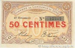 50 Centimes FRANCE régionalisme et divers Sens 1916 JP.118.02 SUP