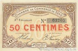 50 Centimes FRANCE régionalisme et divers Sens 1916 JP.118.02 pr.NEUF