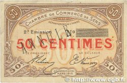 50 Centimes FRANCE régionalisme et divers Sens 1916 JP.118.03 TTB