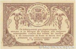 1 Franc FRANCE régionalisme et divers SENS 1916 JP.118.05var. SUP+