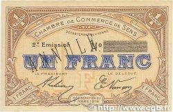 1 Franc FRANCE régionalisme et divers SENS 1916 JP.118.05 SPL