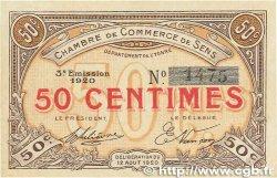 50 Centimes FRANCE régionalisme et divers SENS 1920 JP.118.10 SPL