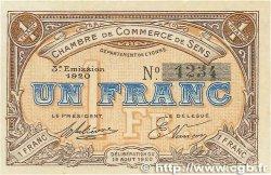 1 Franc FRANCE régionalisme et divers SENS 1920 JP.118.12 pr.NEUF