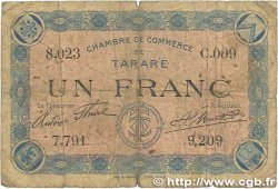 1 Franc FRANCE régionalisme et divers TARARE 1915 JP.119.08 B